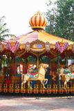 Empty Carousel Ride for Children Royalty Free Stock Images