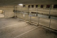 Empty Carpark. Empty inner-city car parking building in Christchurch, New Zealand Royalty Free Stock Photos