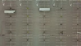 Empty Carpark Aerial. Aerial footage of empty parking lot stock footage