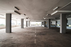 Empty Carpark Area Stock Images