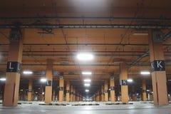 Empty carpark factory. Royalty Free Stock Photography