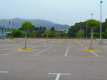 Empty carpark in large shopping mall Royalty Free Stock Image