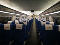 The empty carriage of the CRH. The empty carriage of CRH when back from Shanghai to Hangzhou royalty free stock photos