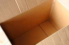 Empty cartbord box Royalty Free Stock Photography