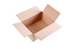 Empty carton box Royalty Free Stock Photos