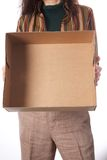 Empty carton box Royalty Free Stock Photo