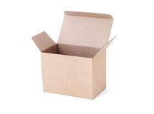 Empty carton box Royalty Free Stock Images