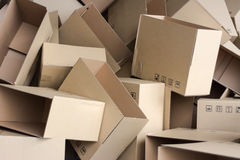Empty cartons Royalty Free Stock Photography