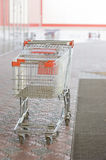 Empty carts in a supermarket Royalty Free Stock Images