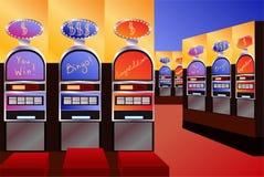 Empty casino interior. Empty money casino interior vector illustration