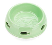 Empty cat food bowl Stock Images