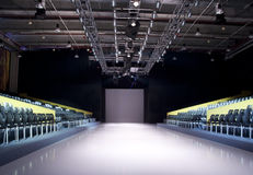 Empty Catwalk. Catwalk before a fashion show Stock Image