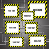 Empty caution board and space for text Royalty Free Stock Photography