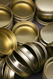 Empty caviar tins Royalty Free Stock Photography