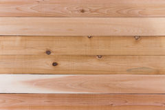 Empty Cedar Wood Wall with Horizontal Orientation Stock Photography