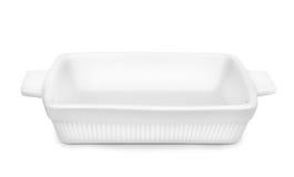 Empty ceramic baking tray Stock Photography
