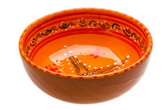 Empty ceramic bowl Stock Images