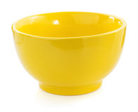 Empty ceramic bowl on white Stock Images