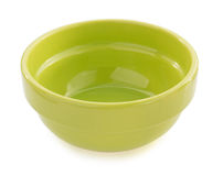 Empty ceramic bowl on white Stock Photo