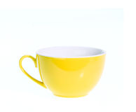 Empty ceramic coffee cup isolated on white background Royalty Free Stock Images