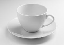 Empty ceramic cup and saucer Royalty Free Stock Photo