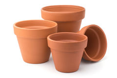 Empty ceramic flower pots Royalty Free Stock Photography