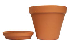 Empty ceramic flowerpot. Stock Images