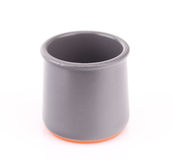 Empty ceramic pot. On the white Stock Images