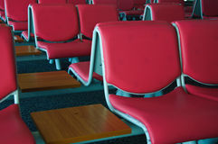 Empty chair at airport Royalty Free Stock Photos