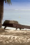 Empty chair on a beach Royalty Free Stock Photos