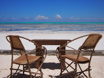 Empty chair on the beach Stock Photo