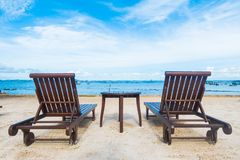 Empty chair on the beach Stock Image
