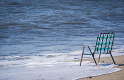 Empty chair at the beach Royalty Free Stock Image