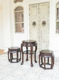 empty chair chinese style Stock Photos
