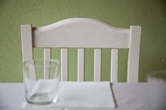 Empty chair in country tavern royalty free stock photo