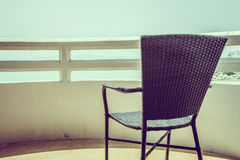 Empty chair deck Royalty Free Stock Image