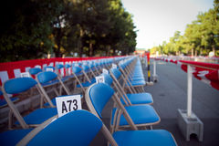 Empty chair before the fair Royalty Free Stock Photo