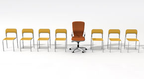 Empty chair for leader Stock Image