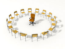Empty chair for leader Royalty Free Stock Image