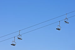 Empty chair lift Stock Image