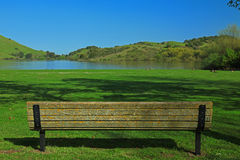 Empty Chair & Nature Background Stock Image
