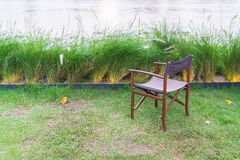 empty chair in park Royalty Free Stock Image