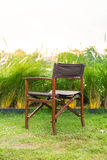 empty chair in park Stock Images