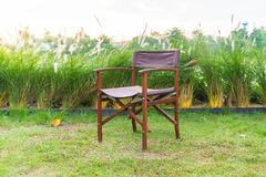 empty chair in park Stock Photography