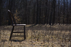 Empty Chair In A Pasture Royalty Free Stock Photos