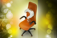 An empty chair with  question mark Royalty Free Stock Image