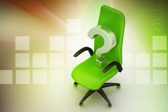 An empty chair with  question mark Royalty Free Stock Photos