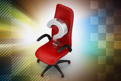 An empty chair with  question mark Stock Photography