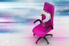 An empty chair with  question mark Stock Images