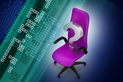 An empty chair with  question mark Stock Image